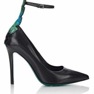 Fendi Shoes - Fendi Women's Black Leather & Crocodile Ava Pump